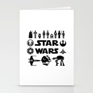 Stationery Cards featuring Star Characters Wars by EARTh