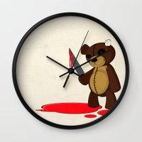 Psycho Teddy Wall Clock