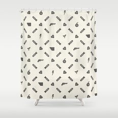 Life then Love then Death Shower Curtain