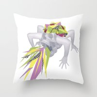 King Skull Throw Pillow
