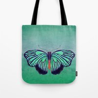 Butterfly In Spring Gree… Tote Bag