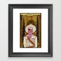 Falsie Framed Art Print
