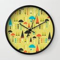 The Yellow Forest Wall Clock