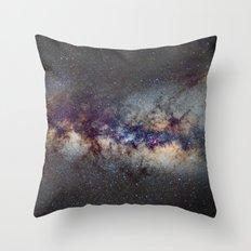 The Milky Way: from Scorpio, Antares and Sagitarius to Scutum and Cygnus Throw Pillow