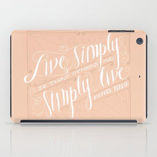 Live Simply iPad Case
