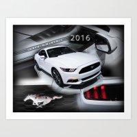 2016 Mustang Art Print