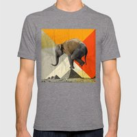 Balance Of The Pyramids Mens Fitted Tee Tri-Grey SMALL