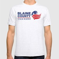 Blaine County Talk Radio Mens Fitted Tee Ash Grey SMALL