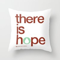There Is Hope - Blood:wa… Throw Pillow