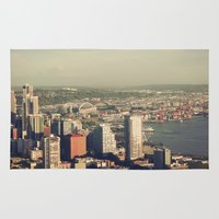 City Of Seattle. View Fr… Rug