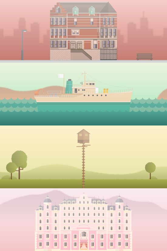 A Wes Anderson Collection Art Print