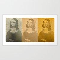 MONA CUBED Art Print
