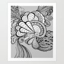 What do you Think? - Zentangle Art Print