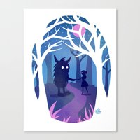 Making Friends with Monsters Canvas Print