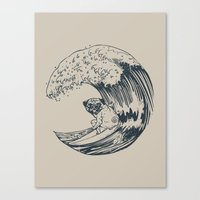 Summer And The Pug  Canvas Print