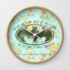 FOR GIRLS WHO DO NOT GIVE SHIT ABOUT BAT MAN Wall Clock