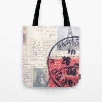 Postale Paris Tote Bag