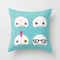Cute Skulls Throw Pillow