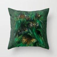 Throw Pillow featuring The Mountain Jungle Eyes by Eduardo Doreni