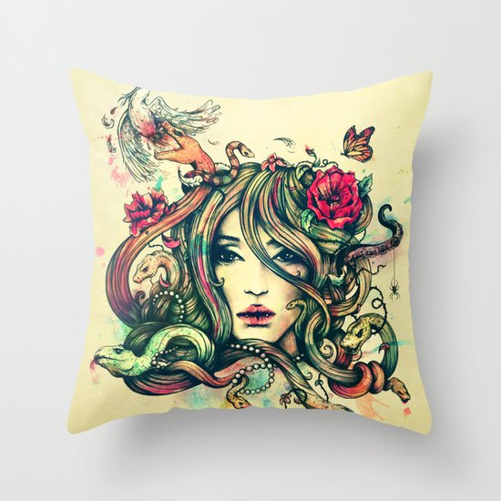 Beauty Before Death Throw Pillow