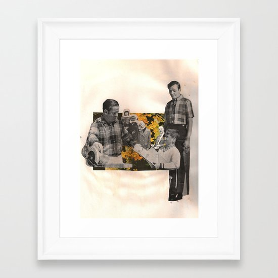 fathers & sons Framed Art Print