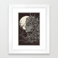 END OF QUEEN Framed Art Print