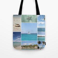 Scenic Caribbean Collage Tote Bag