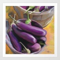 Eggplant / Food Art Print
