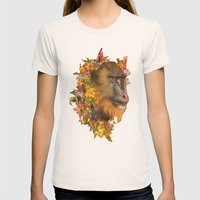 Baboon Rainbows Womens Fitted Tee Natural SMALL