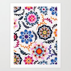 Happy Color Suzani Inspi… Art Print