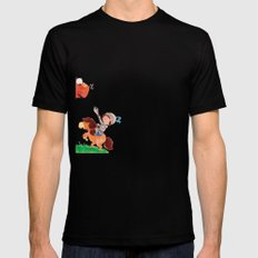 Knight vs Monster Black SMALL Mens Fitted Tee