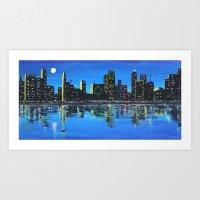 Any Town Cityscape Art Print