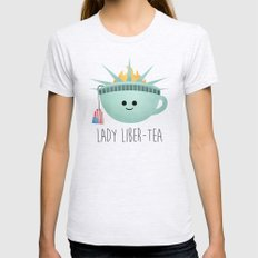 Lady Liber-tea Womens Fitted Tee Ash Grey SMALL