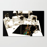 Who made the brownie that we ate a few minutes ago? Canvas Print