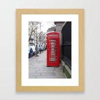 London Phone Booth Framed Art Print