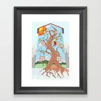 Childhood On A Wall Framed Art Print