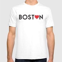 Boston 2.0 Mens Fitted Tee White SMALL