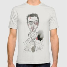 The first rule is- The Narrator Edward Norton Mens Fitted Tee Silver SMALL