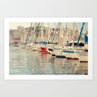 Marseille Harbor Art Print