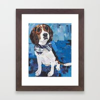 Earl the Hound Pup Framed Art Print