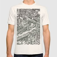 The Town of Train 1 Mens Fitted Tee Natural SMALL