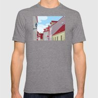 Tiled Roofs Mens Fitted Tee Tri-Grey SMALL