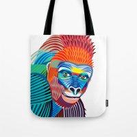 Colorful Gorilla Tote Bag