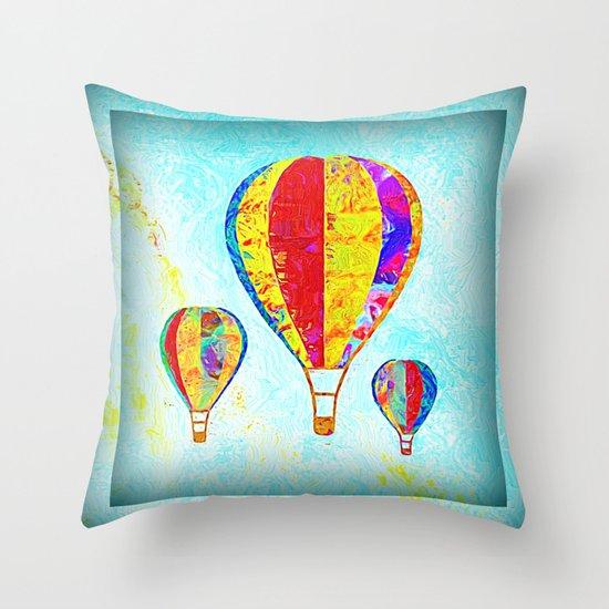 Beautiful Balloons Mosaic-Look Throw Pillow