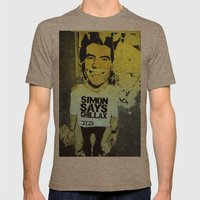Simon says... Mens Fitted Tee Tri-Coffee SMALL