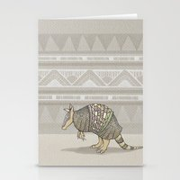Abstract Armor Stationery Cards