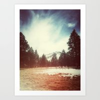 Mountain and Field Art Print