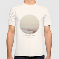 Maps Mens Fitted Tee Natural SMALL