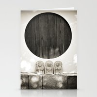 Jizo In Black And White,… Stationery Cards