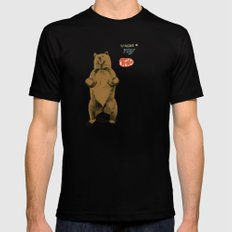 KitKat Bear Mens Fitted Tee Black SMALL